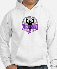 Pancreatic Cancer Tough Survivor Hoodie