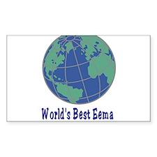 Jewish World's Best Ema Rectangle Decal