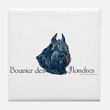 Bouvier des Flanders too Tile Coaster