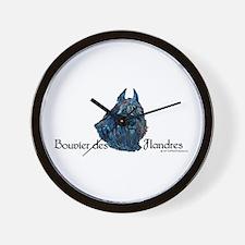 Bouvier des Flanders too Wall Clock
