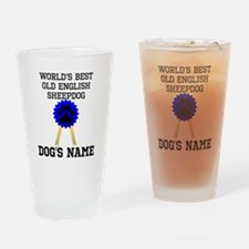 Worlds Best Old English Sheepdog (Custom) Drinking