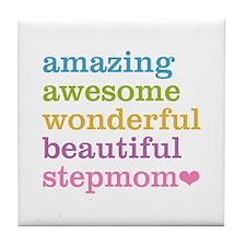 Amazing Stepmom Tile Coaster