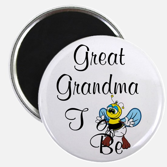 Playful Great Grandma To Bee Magnets