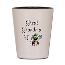 Playful Great Grandma To Bee Shot Glass