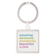 Amazing Wife Square Keychain