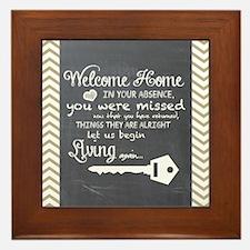 Welcome Home Framed Tile