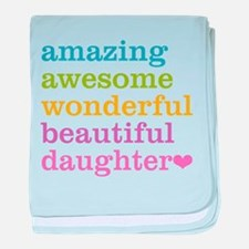Amazing Daughter baby blanket