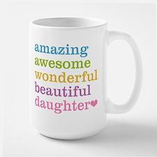 Amazing Daughter Large Mug