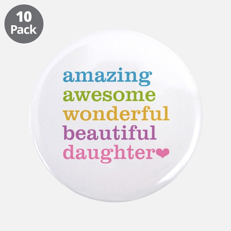 """Amazing Daughter 3.5"""" Button (10 pack)"""