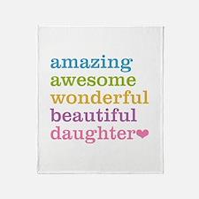 Amazing Daughter Throw Blanket