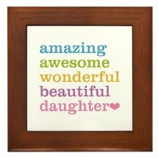 Amazing Daughter Framed Tile