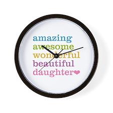 Amazing Daughter Wall Clock