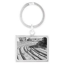 London Track  Landscape Keychain