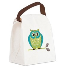 Vintage Owl Canvas Lunch Bag