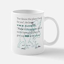 Aqua Jeremiah 29:11 Mugs