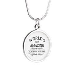 World's Most Amazing Academi Silver Round Necklace