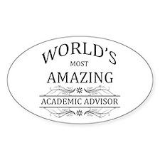 World's Most Amazing Academic Advis Decal