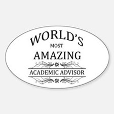 World's Most Amazing Academic Advis Decal