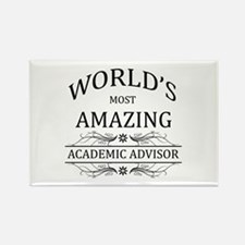 World's Most Amazing Academic Adv Rectangle Magnet