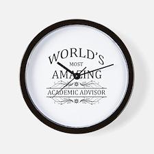 World's Most Amazing Academic Advisor Wall Clock