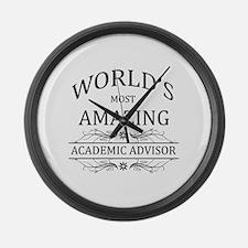World's Most Amazing Academic Adv Large Wall Clock