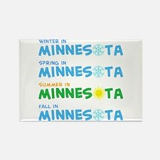 Minnesota Seasons Rectangle Magnet
