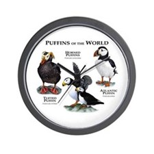 Puffins of the World Wall Clock