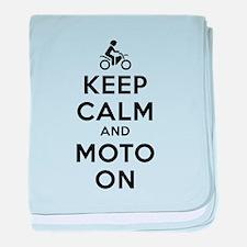 Keep Calm Moto On baby blanket
