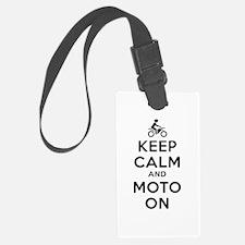 Keep Calm Moto On Luggage Tag
