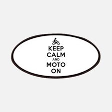 Keep Calm Moto On Patches