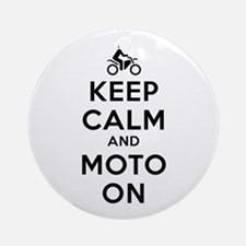 Keep Calm Moto On Ornament (Round)