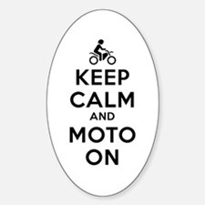 Keep Calm Moto On Decal