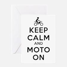 Keep Calm Moto On Greeting Card