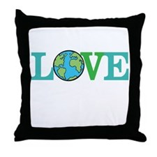 Earth Day Love Throw Pillow