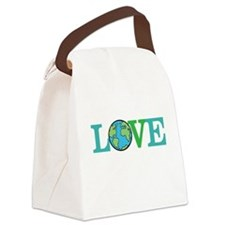 Earth Day Love Canvas Lunch Bag