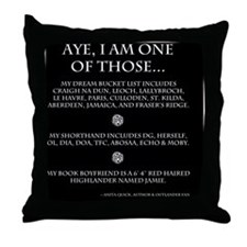Call Me Sassanach inverted jpeg Throw Pillow