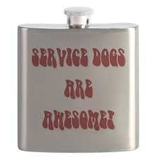 SERVICE DOGS ARE AWESOME! Flask
