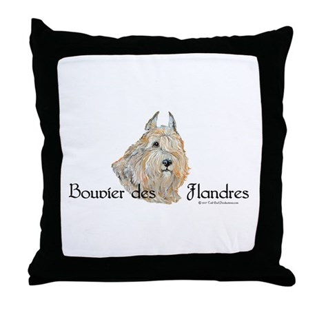 Bouvier Sweetie Throw Pillow