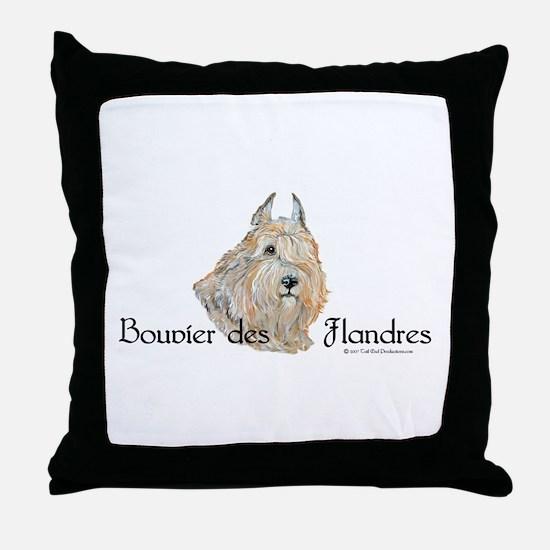 Bouvier Sweetie Throw Pillow