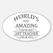 World's Most Amazing Art Teacher Decal