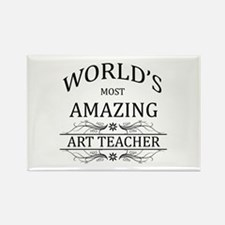 World's Most Amazing Art Teacher Rectangle Magnet