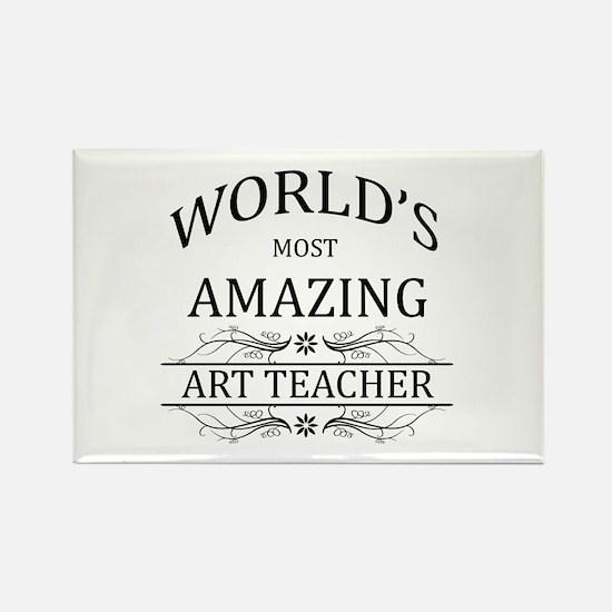 World's Most Amazing Art Teacher Rectangle Magnet