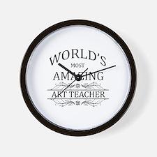 World's Most Amazing Art Teacher Wall Clock