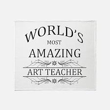 World's Most Amazing Art Teacher Throw Blanket