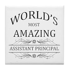 World's Most Amazing Assistant Princi Tile Coaster