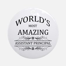 World's Most Amazing Assistant Pr Ornament (Round)