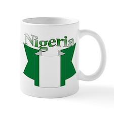Nigeria flag ribbon Mug