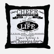 Chalkboard Cheerleading Throw Pillow