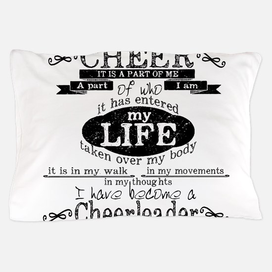 Chalkboard Cheerleading Pillow Case