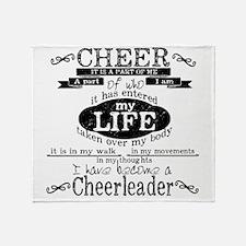 Chalkboard Cheerleading Throw Blanket